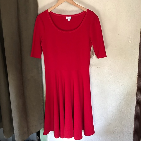 LuLaRoe Dresses & Skirts - Lularoe Nicole Red Dress